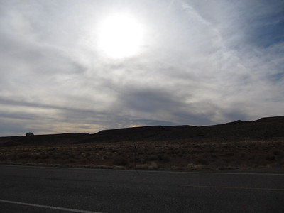 On the road from northern New Mexico to Monument Valley, Utah