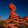 Balanced Rock in  shot at 3:00am
