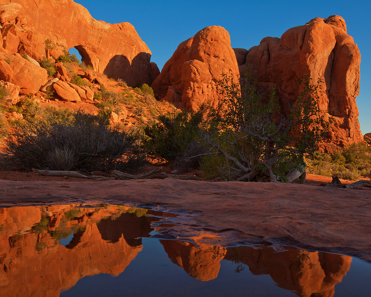 North Window Arch and Reflection, Arches National Park, UT