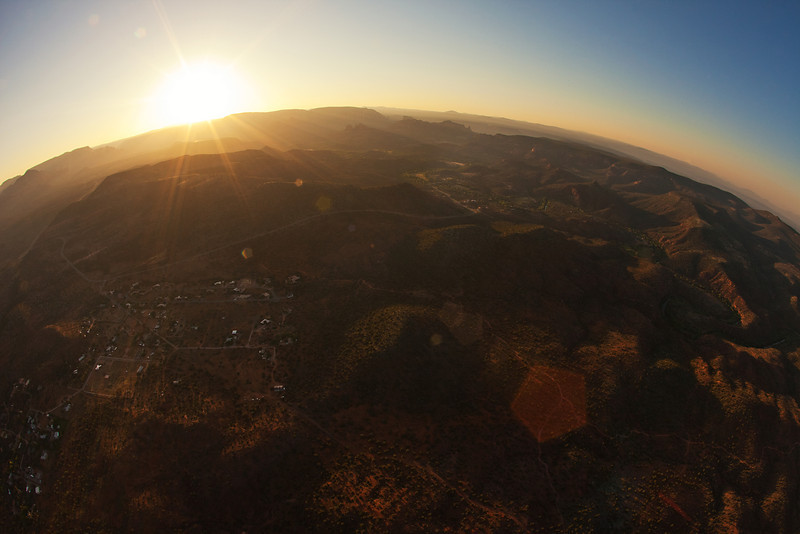 Fish-eye View from a hot air balloon, Sedona, AZ