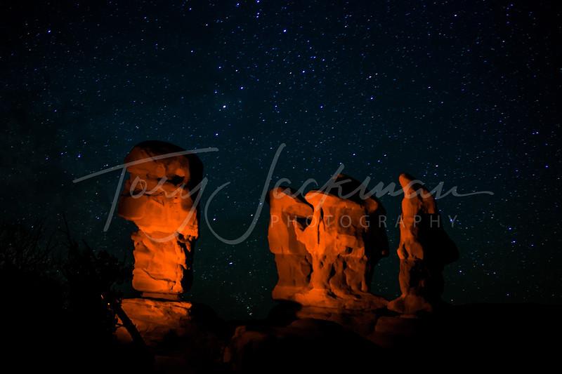 Light Painting at Devils Garden, Escalante, Utah