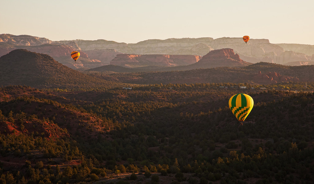 Balloon Sunrise, Sedona, AZ
