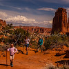 Hiking Park Avenue, Arches National Park