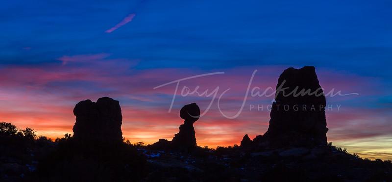 Balanced Rock at Sunset