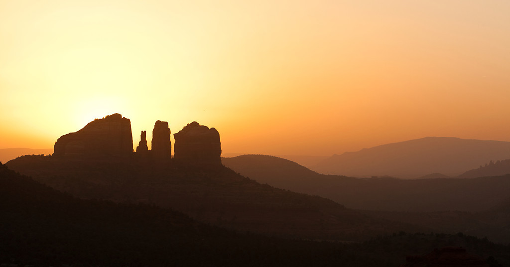 Cathedral Rock Sunset Silhouette, Sedona, AZ