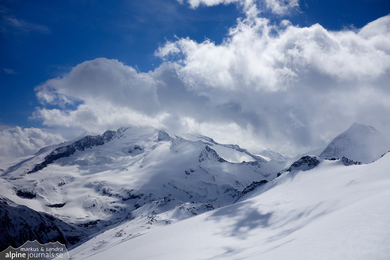 Amazing clouds over Grossvenediger and Grosser Geiger