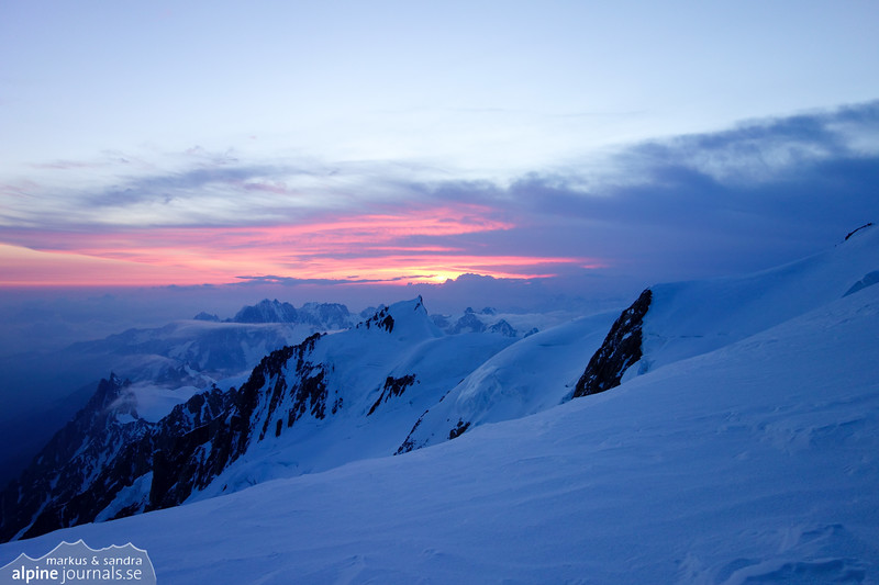 Sunrise on Mt Blanc
