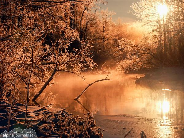 Magical winter lake
