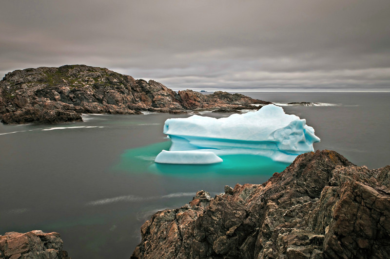 """Late July Berg"", Salt Hr., Herring Neck, Newfoundland."