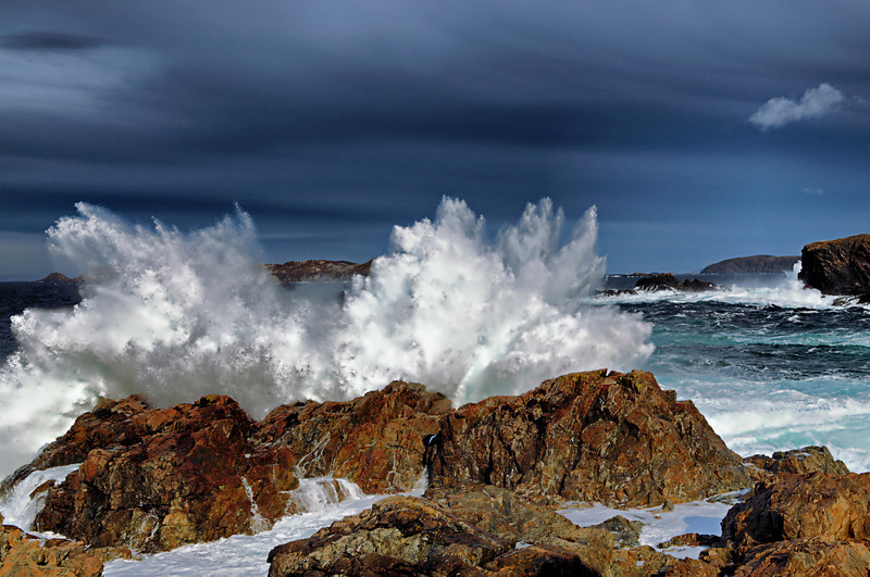 """Foaming Breakers"" near Herring Neck,Newfoundland."