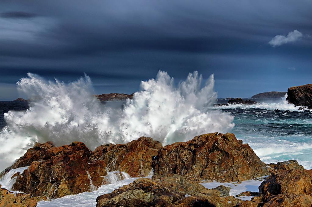 """Foaming Breakers"" near Herring Neck,Newfoundland."