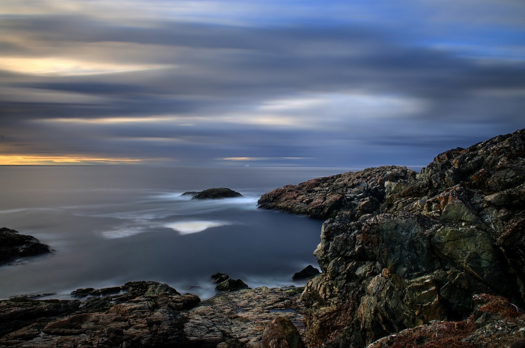 """Along The Shoreline""      near Salt Harbor, Herring Neck, Newfoundland"