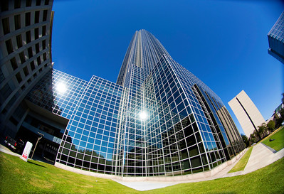 Transco/Williams Tower, fish-eye view