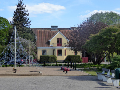 View of our house, seen from the playground
