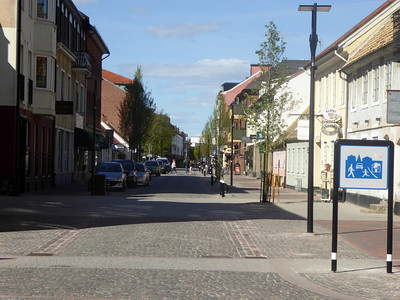 View over the main street in Ängelholm