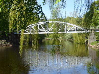 "A bridge, called ""Pyttebron"" over the small river ""Rönneå"" that is found throughout Ängelholm"