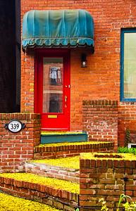 Cabbage Town District Door in Toronto, Canada