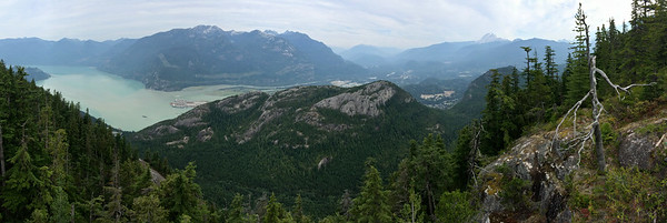 the estuary of the Squamish River; the granites of Stawamus Chief in the foreground