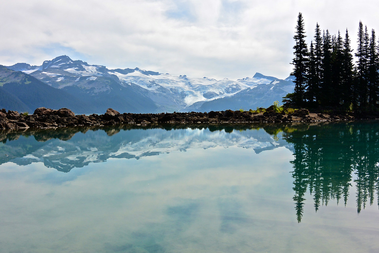 reflections in Garibaldi Lake