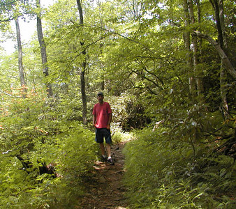 One of Kenny's favorite spots along the A.T. on this hike  It is beautiful here!!  Southern Nantahala Wilderness, NC