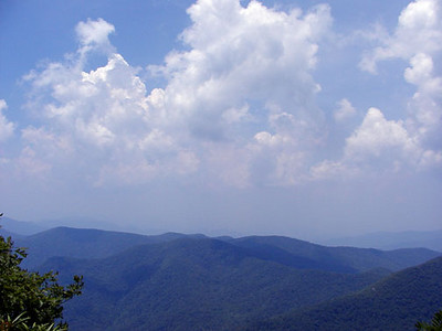 View from Standing Indian Summit straight ahead Southern Nantahala Wilderness, NC