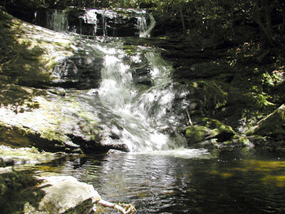 Big Laurel Falls.. bad photo on a sunny day Southern Nantahala Wilderness, NC