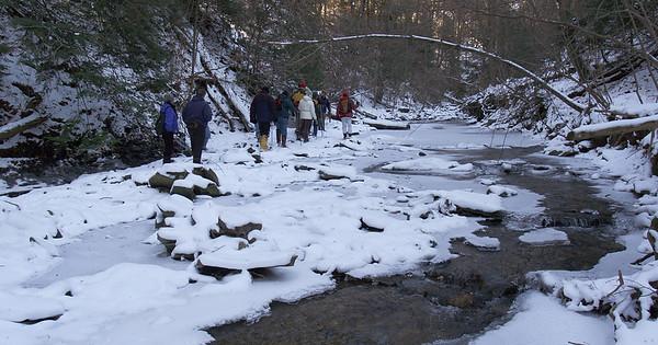 Stebbins Gulch Winter Hike - Jan. 3, 2009