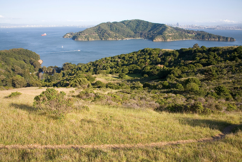 This land (foreground) is privately owned and slated for development - There has been County approval for  43 homes...If you would like to join the people that believe it  should remain open space, contact the Last Chance Committee in Tiburon to find out how you can help save this jewel at the end of Tiburon Peninsula.