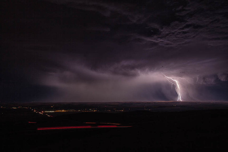 Lightning storm over the foothills of the Blue Mountains