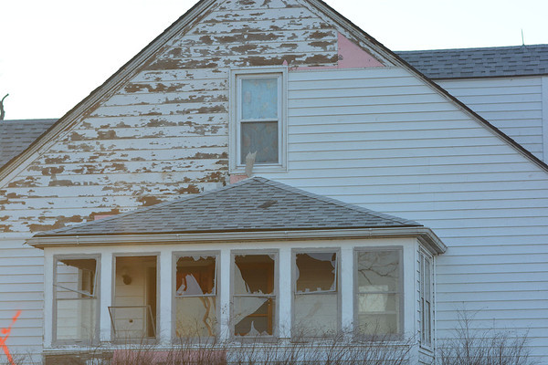 One of the homes west of St. Elmo which has been judged uninhabitable as a result of Sunday's tornado.