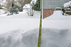 34 inches, with snow still falling . .