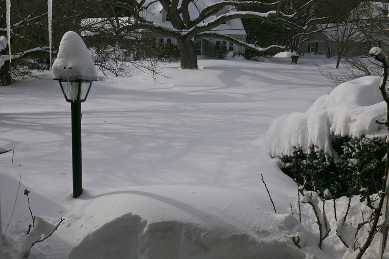 The first step off the front porch was deep.