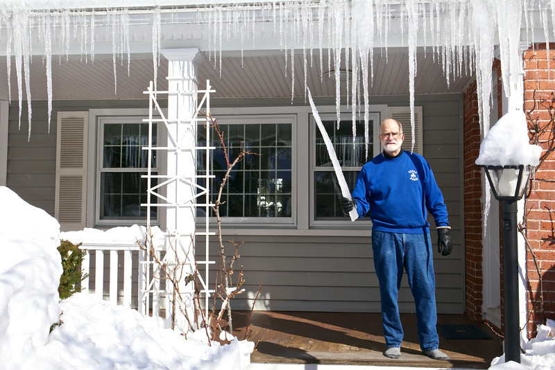 The sunshine created huge icicles, almost like swords.