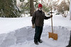 Steve uses our Swiss snow shovel on the driveway until it breaks under the weight of the snow.
