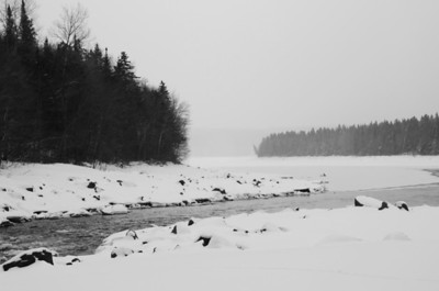 Frozen Winding River