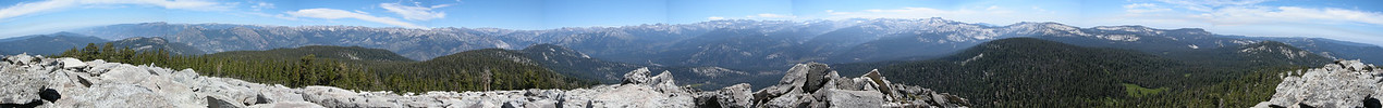 Panorama atop Mitchell Peak, August 17, 2011. A marvelous view, highly recommended. Elevation 10,365 feet. 3.1 miles from Marvin Pass trailhead.