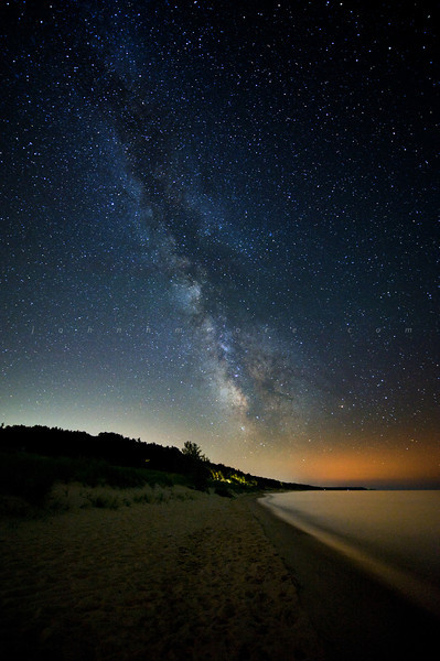 The Milky Way over the beach.
