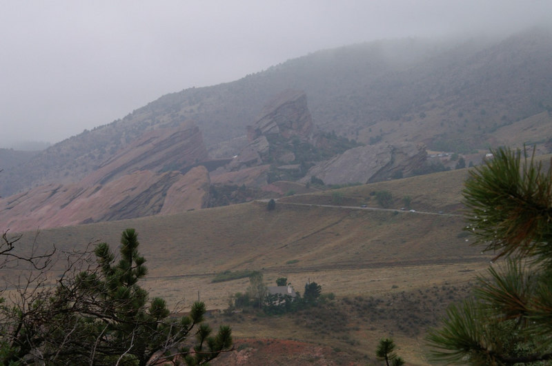 Red Rocks, <br /> seen from Dinosaur Ridge, W. Alameda Parkway, Morrison, Colorado