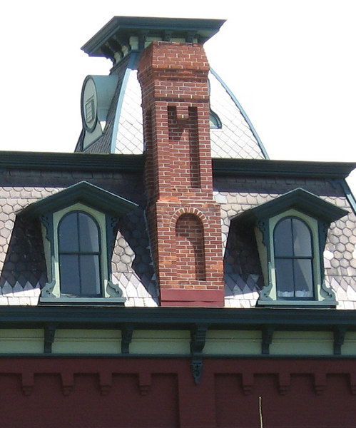 Detail of railroad station, North Bennington, Vermont.