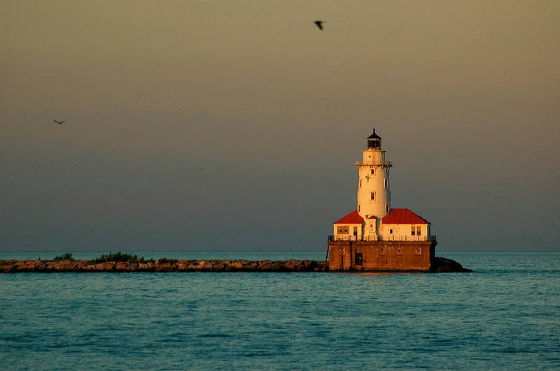 Lake Michigan, June.