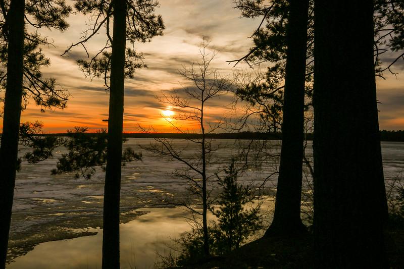 Frozen Trout Lake Sunset 1