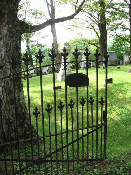 Cemetery gate, Peru, Vermont.