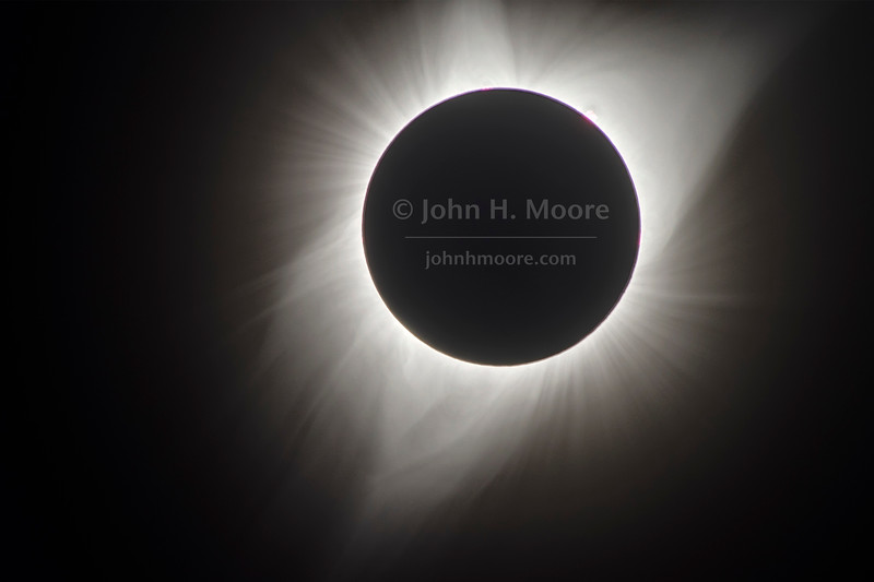 Blend of ten exposures of the sun's corona and prominences during the total solar eclipse of August 21, 2017.  Grand Teton National Park, Wyoming.