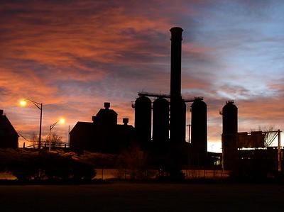 CF&I Steel Mill In Pueblo,CO. Sunrise