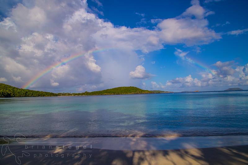 Rainbow over Caneel Bay from Gibney Beach