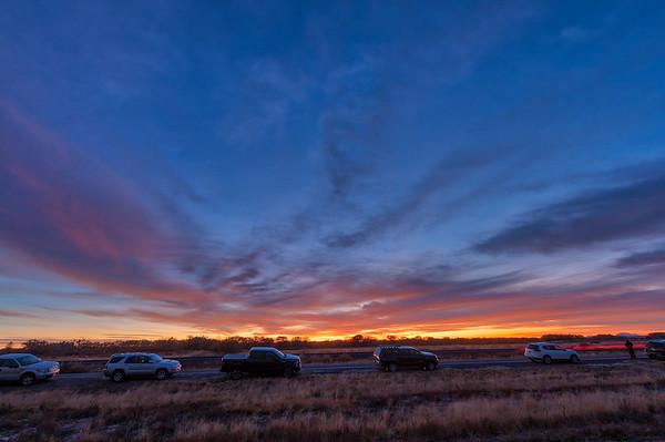 Evolution of a sunrise - Bosque del Apache, Nov 29, 2017