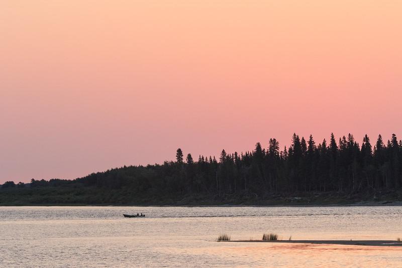 Butler Island and canoe just before sunrise.