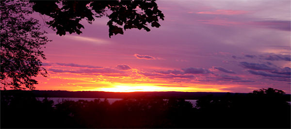 Sunset on Old Mission Peninsula, Michigan