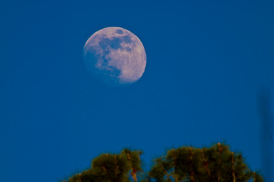 The moon in Calistoga Ranch