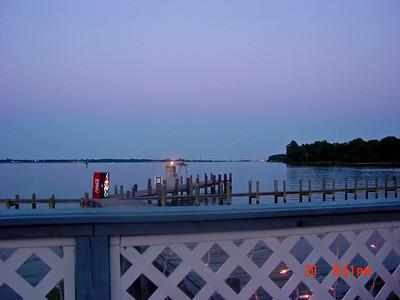 Sunset at Clarks Landing Maryland